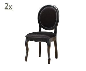 Set de 2 sillas Fiona – negro