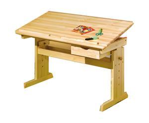 Escritorio para niños de madera de pino maciza
