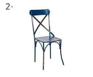 Set de 2 sillas Bistró - azules