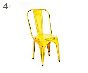 Set de 4 sillas Aix - amarillas