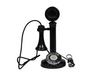 Teléfono decorativo de hierro y baquelita