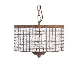 Lámpara de techo de vidrio y metal - marrón y transparente