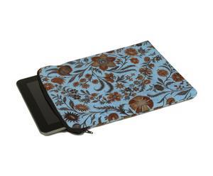 Funda de terciopelo para Ipad, Azul y chocolate - 21x28