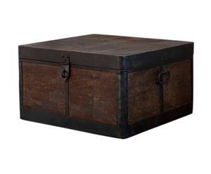 Baúl de metal – negro y marrón