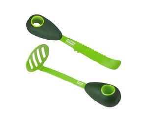 Set de 1 cuchillo para el aguacate y 1 prensador para aguacate – verde