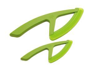 Set de 2 cuchillos de verduras de acero inoxidable Filippe - verde