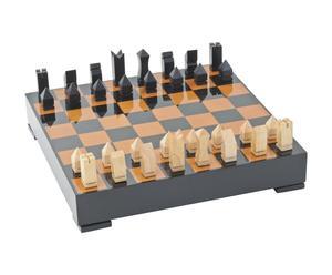 Caja de juego de ajedrez – natural y beige