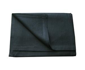 Mantel de lino, cuadrado – negro