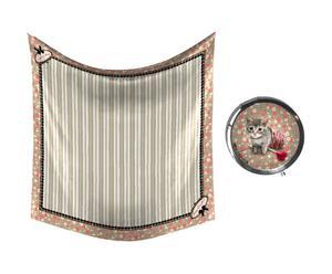 Set de fular y espejo de bolsillo Zebulette