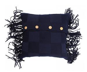 Cojín de lana, azul – 50x50