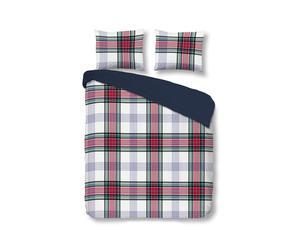 Juego de funda nórdica y funda de almohada topo, beige y crema – 140x200