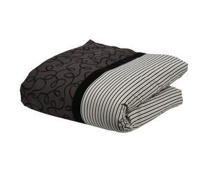 Edredón de algodón, gris y crudo - 160x130