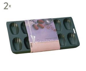 Set de 2 moldes en forma de magdalena - Negro