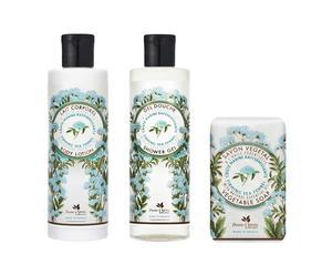 Gel de ducha, jabón líquido extra suave y crema hidratante hinojo marino, reafirmante