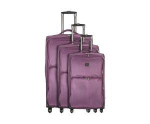 Set de 3 maletas Vanille, Nylon - violeta
