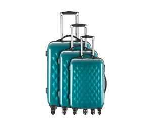 Set de 3 maletas BOREALE, policarbonato - azul