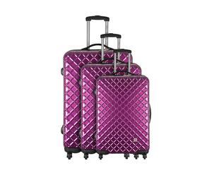 Set de 3 maletas SPHERA, policarbonato - violeta