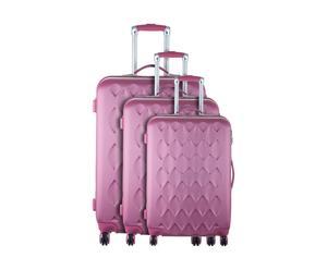 Set de 3 maletas COURCELLES - rosa