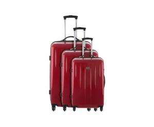 Set de 3 maletas trolley Cabourg - rojo