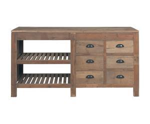 Mueble de cocina de madera de pino - natural