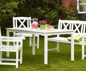 Mesa de jardín de madera - blanco