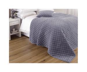 Couvre-lit King size ANNECY Velours de coton, violet - 265*265