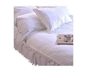 Edredón de algodón, blanco – 140x220