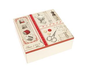 Caja de costura, madera - blanco