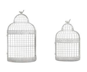 Set de 2 jaulas decorativas de pared - gris