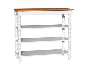 Mesa con 3 estantes