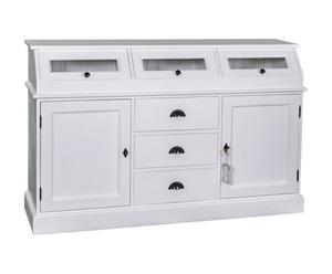 Mueble de cocina de madera de pino – blanco