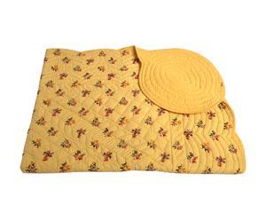 Edredón de cuna en algodón – amarillo