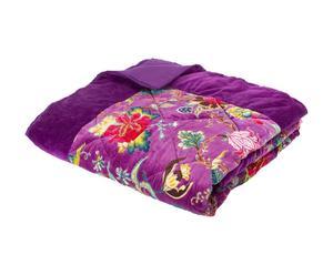 Edredón acolchado en algodón - violeta