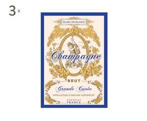 Set de 3 paños de cocina Vignoble champenois