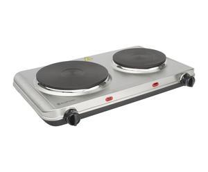 Placa de cocina en acero inoxidable - blanco y Negro