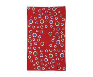 Alfombra Bubble, rojo – 120x180