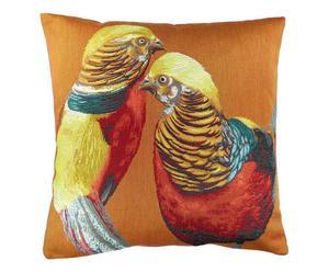 Cojín artesanal en poliéster y algodón Esther - multicolor