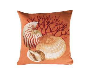 Cojín de algodón Delos, naranja - 50x50