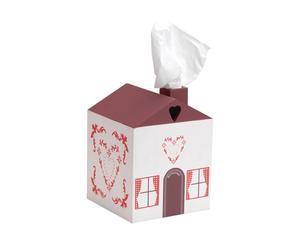 Caja para pañuelos Chalet Coeur - rojo y blanco