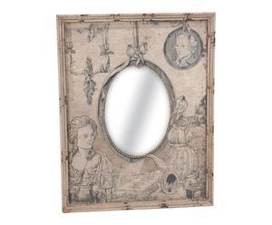 Espejo de madera DM - beige
