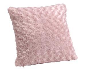 Cojín de pelo cuadrado - rosa
