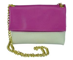 Bolso de mano en piel EVA - gris y violeta