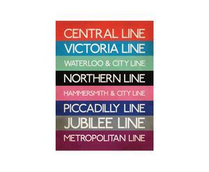 Lienzo London Tube – 80x60