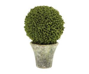 Arbusto artificial de plástico y papel maché