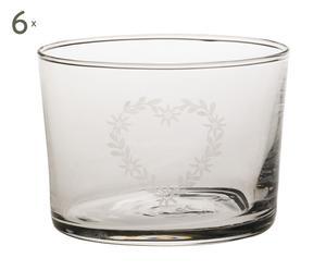 Set de 6 vasos en vidrio EDELWEISS – 20cl