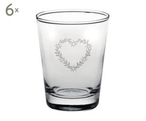Set de 6 vasos en vidrio – 26cl
