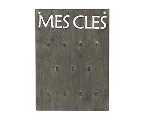 Placa portallaves de metal - gris