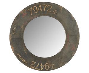 Espejo de metal y hierro - marrón