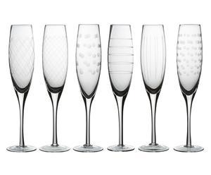 Set de 6 copas de cristal