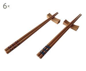 Set de 12 pares de palillos en bambú Focaccio